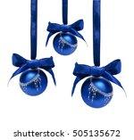 Hunging Blue Christmas Balls...