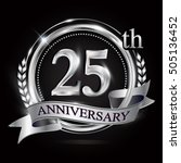 25th silver anniversary logo... | Shutterstock .eps vector #505136452