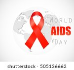 world aids day concept. | Shutterstock .eps vector #505136662