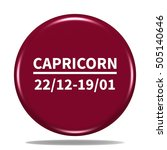 capricorn icon. internet button....
