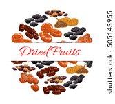 dried fruits decoration emblem. ... | Shutterstock .eps vector #505143955