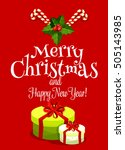 christmas day greeting card... | Shutterstock .eps vector #505143985