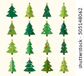 christmas tree cartoon icons... | Shutterstock .eps vector #505148062