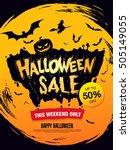halloween sale. vector... | Shutterstock .eps vector #505149055