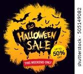 halloween sale. vector... | Shutterstock .eps vector #505149082