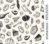 kitchen pattern. cooking... | Shutterstock .eps vector #505152535