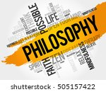 philosophy word cloud collage