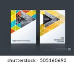brochure template layout  cover ... | Shutterstock .eps vector #505160692