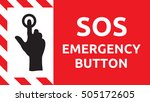 sos emergency button | Shutterstock .eps vector #505172605