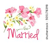 the married card. wedding card... | Shutterstock .eps vector #505178398