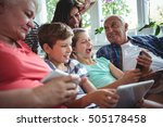 happy multi generation family... | Shutterstock . vector #505178458