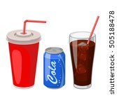 soft drinks | Shutterstock .eps vector #505188478