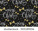 vector seamless pattern with... | Shutterstock .eps vector #505189036