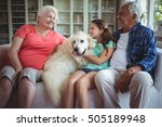 happy grandparents and...   Shutterstock . vector #505189948