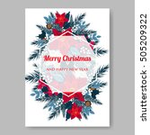 christmas party invitation or... | Shutterstock .eps vector #505209322