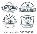 set of kayak and canoe logo ... | Shutterstock .eps vector #505210552