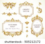 vector set frames and vignette... | Shutterstock .eps vector #505212172