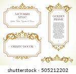vector set frames and vignette... | Shutterstock .eps vector #505212202