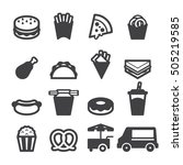 fast food icons | Shutterstock .eps vector #505219585