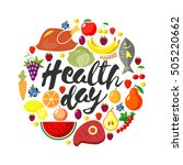 health day.  round frame from... | Shutterstock . vector #505220662