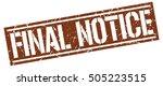 final notice. grunge vintage... | Shutterstock .eps vector #505223515