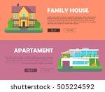 family house  apartment... | Shutterstock .eps vector #505224592