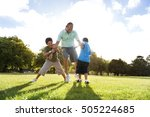 family father little boy... | Shutterstock . vector #505224685