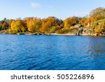Coastal Landscape In Fall With...