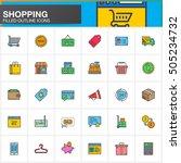 online shopping line icons set  ... | Shutterstock .eps vector #505234732