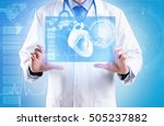 cardiologist working with... | Shutterstock . vector #505237882