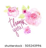 watercolor floral background.... | Shutterstock . vector #505243996