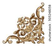 vintage baroque corner scroll...   Shutterstock .eps vector #505248058