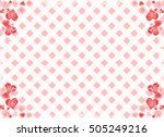 lace and heart frame | Shutterstock .eps vector #505249216