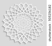 Lace 3d Mandala  Round...