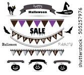 ribbon. halloween banner.... | Shutterstock .eps vector #505257976