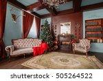 christmas morning. classic... | Shutterstock . vector #505264522
