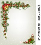 christmas background with tree... | Shutterstock .eps vector #505265836
