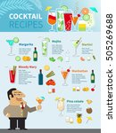 cocktail recipes poster of... | Shutterstock .eps vector #505269688