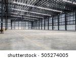 interior of empty warehouse | Shutterstock . vector #505274005
