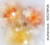 bright mutlicolor xmas... | Shutterstock . vector #505278928