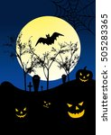 vector halloween background | Shutterstock .eps vector #505283365