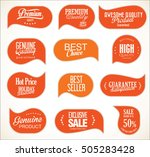 modern sale stickers collection | Shutterstock .eps vector #505283428