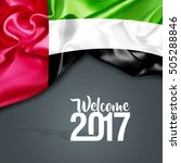 welcome 2017 uae | Shutterstock . vector #505288846