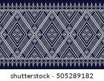 geometric ethnic pattern design ... | Shutterstock .eps vector #505289182