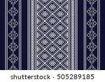 geometric ethnic pattern design ... | Shutterstock .eps vector #505289185
