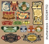 vector vintage items  label art ... | Shutterstock .eps vector #505289752