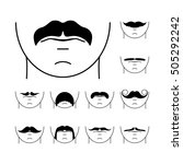 big set of vector hipster... | Shutterstock .eps vector #505292242