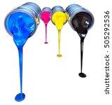 3d rendering of a cmyk color... | Shutterstock . vector #505292536