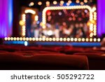 performance hall with empty red ... | Shutterstock . vector #505292722