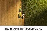 a jaguar type harvester working ... | Shutterstock . vector #505292872